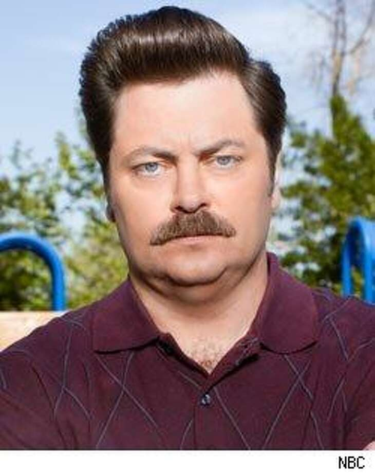 """Nick Offerman plays Ron on NBC's """"Parks and Recreation."""""""