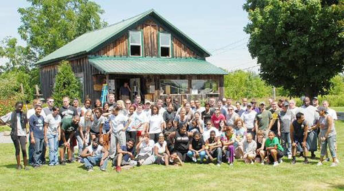 Photo Courtesy GREAT SWAMP CONSERVANCY Morrisville State College students at the Great Swamp Conservancy.