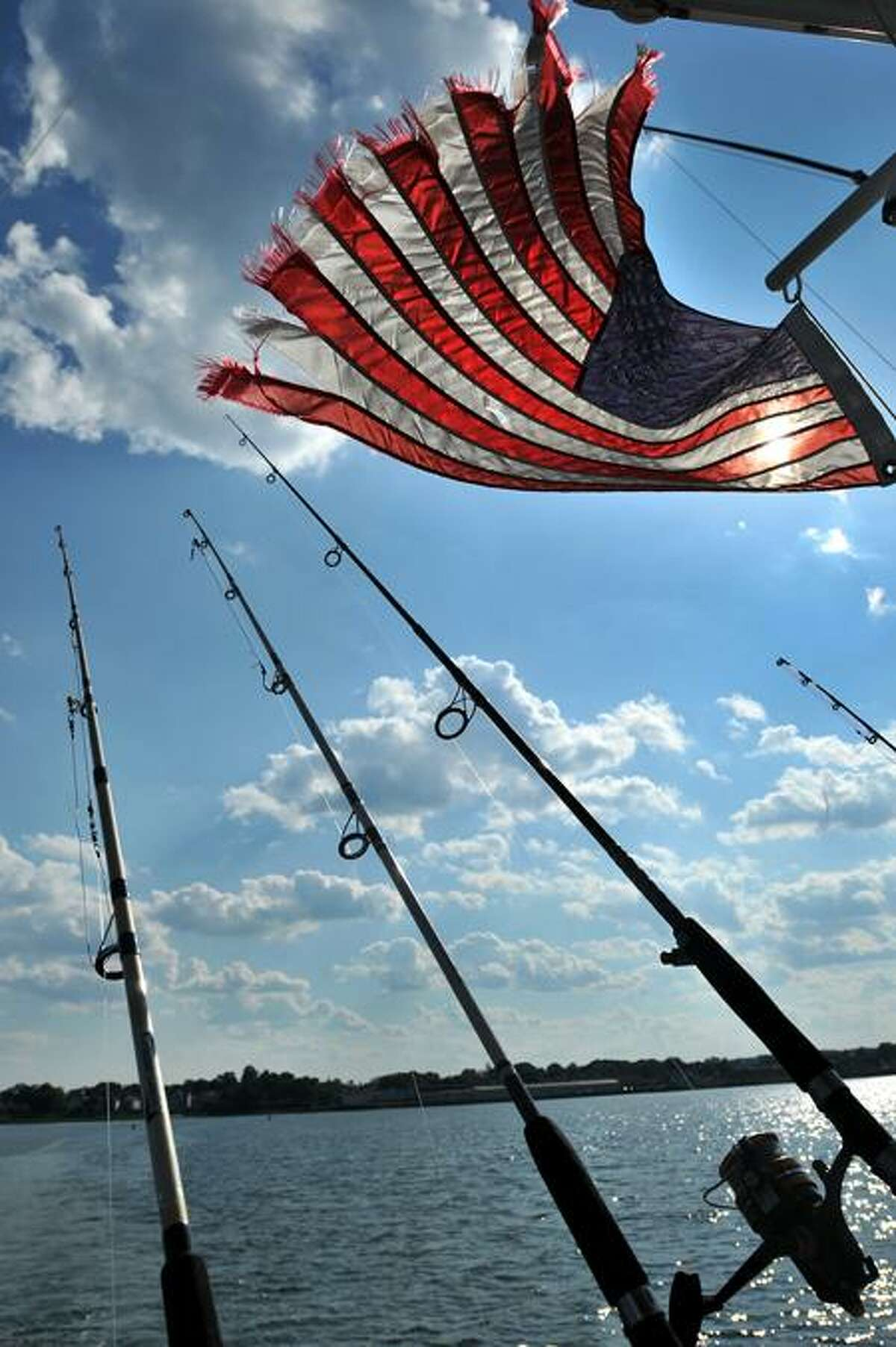 The free from the deck of the Veteran Angler Charters's boat. (Brad Horrigan/Register)