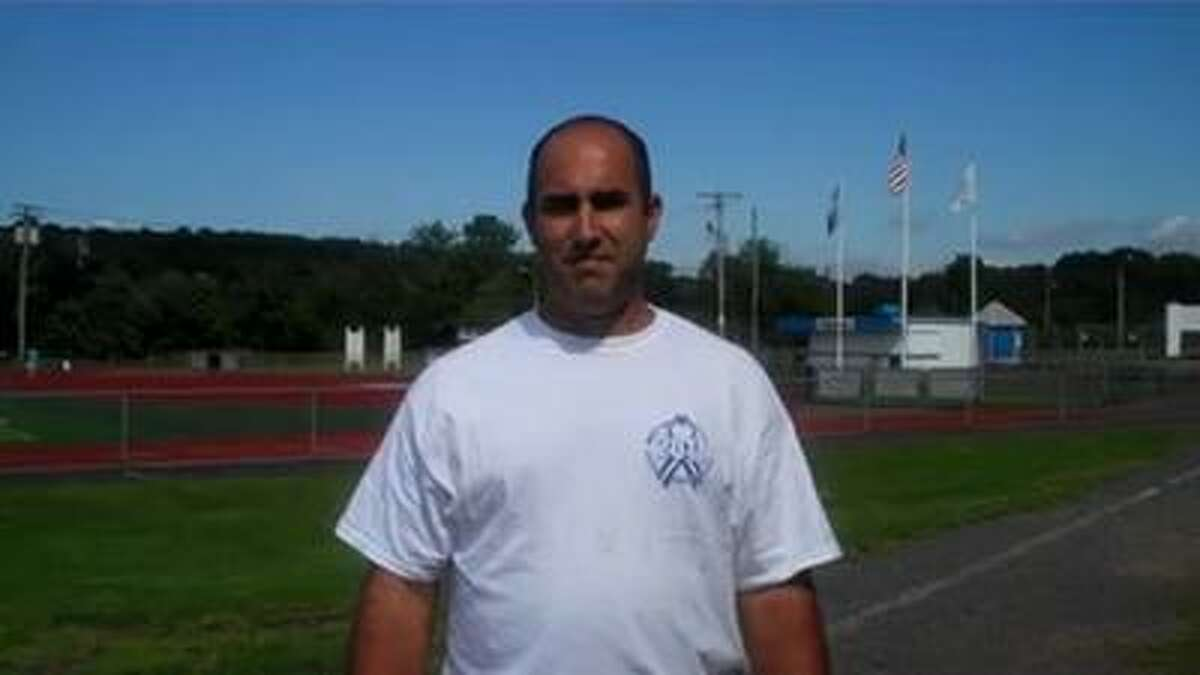 Chris Everone, facilities manager of the West Haven High School athletic fields. (Mike Pucci/Register)