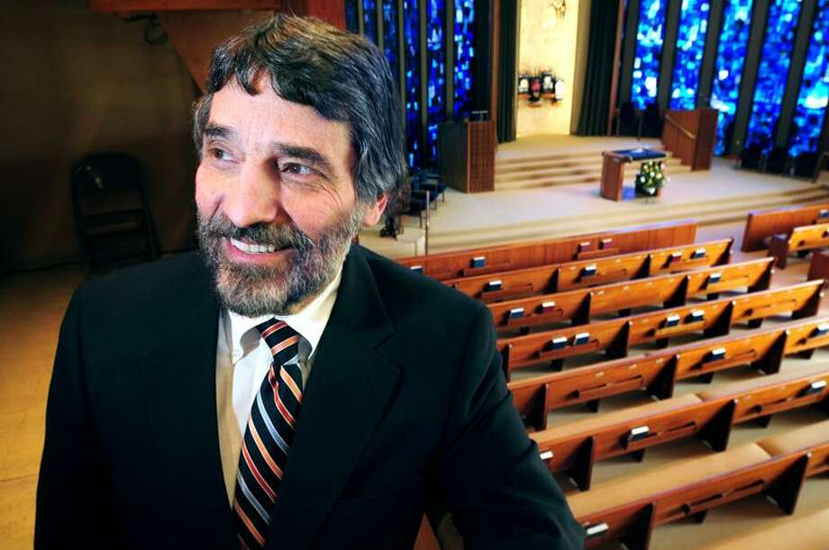 Rabbi Herbert Brockman is photographed at Congregation Mishkan Israel in Hamden on 5/3/2011.Photo by Arnold Gold/New Haven Register    AG0410F