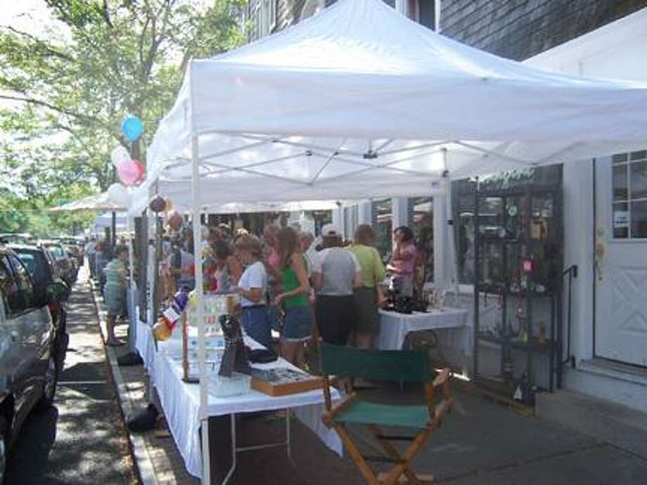 Submitted PhotoWhite tents line the streets of Skaneateles for Curbstone Festival.