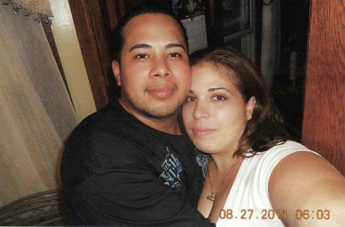 Jorge Chambasis with his wife, Roseann Chambasis, at a family baby shower in the last picture taken of the two before his death.