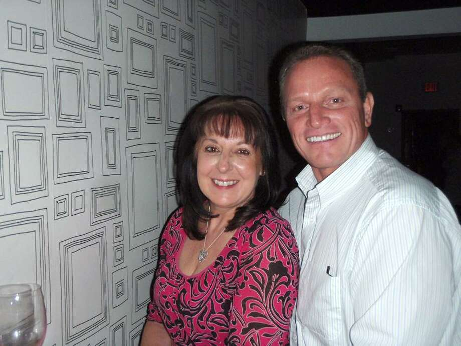 Contributed photo: Kathy Gerwien of Ansonia and Dan Tucker of Milford got together at Swill Wine Bar in Branford.