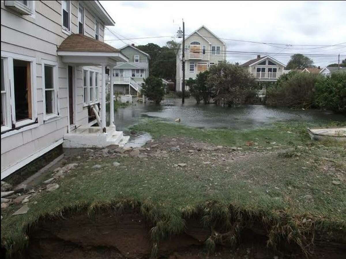 Milford Planning and Zoning Board Chairwoman Susan Shaw's home on Point Beach Drive suffered major damage from the storm. (Contributed photo)