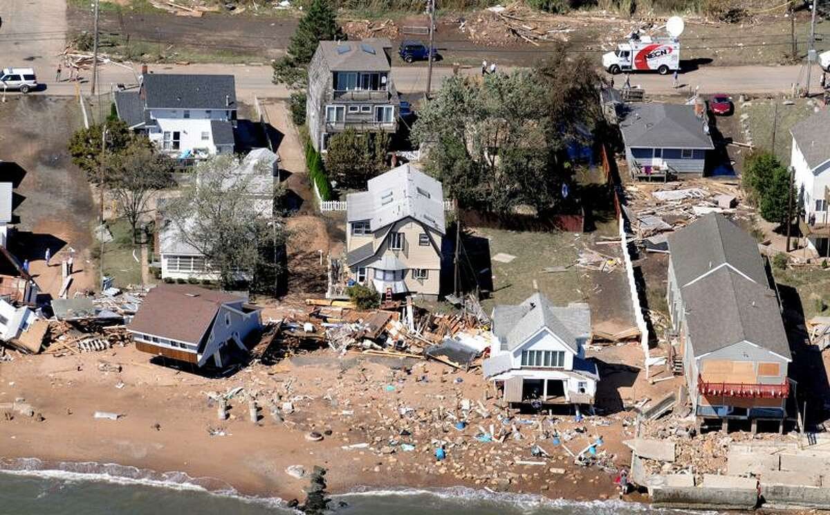 An aerial view of the Cosey Beach Avenue area in East Haven. (Melanie Stengel/Register)