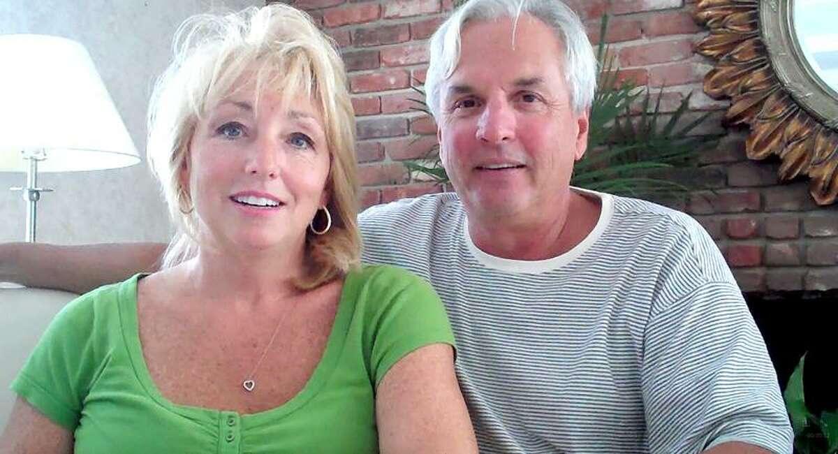 Irene and David Knauf married Sunday night despite the damage caused by Hurricane Irene. (amanda Pinot/Register)