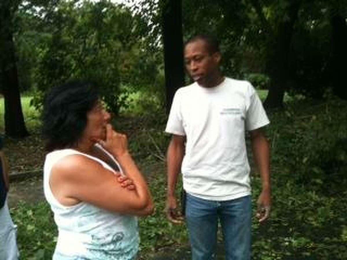 Hamden Mayor Scott Jackson went out into neighborhoods hurt by the storm