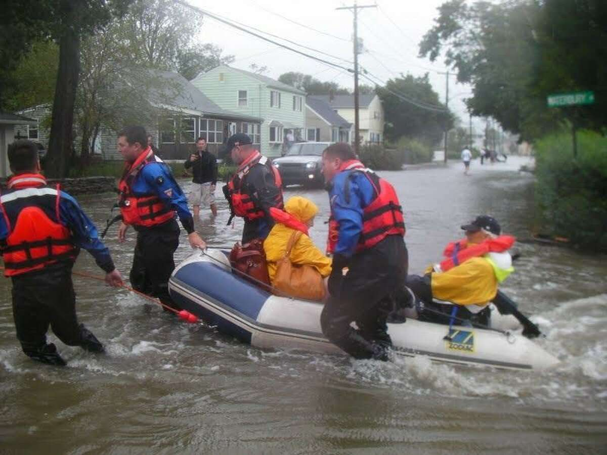 Milford authorities rescued a couple who were stranded in their home Contributed by Milford Police