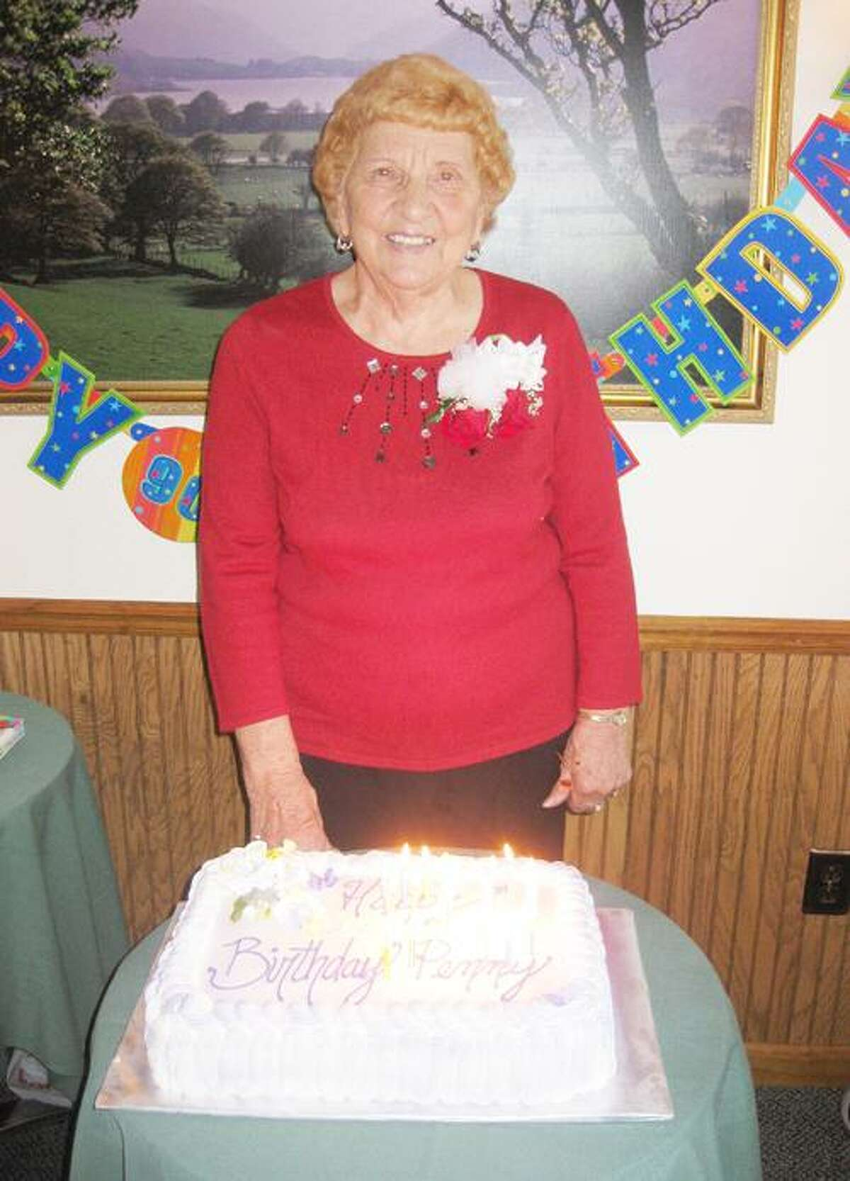 SUBMITTED PHOTO Penny Strain celebrates her 90th birthday.