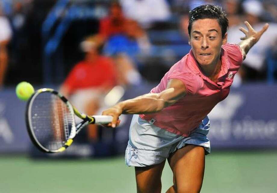 Francesca Schiavone lost to Caroline Wozniacki in the New Haven Open semifinals on Friday night at the Connecticut Tennis Center. (Melanie Stengel/Register)