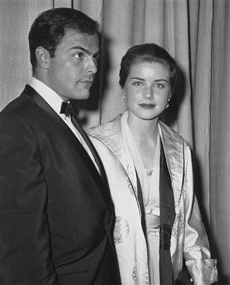 In this April 4, 1960, file photo, actor John Saxon and actress Dolores Hart arrive at Pantages Theater in Hollywood for the Academy Awards show. Associated Press Photo: AP / AP1960