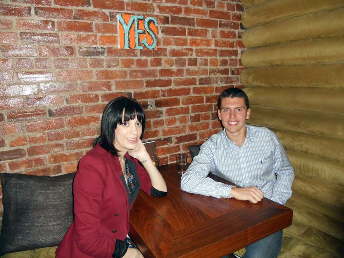 Contributed photo: Megg Malave of East Haven and Joe Cichocki of North Haven at 116 Crown in New Haven.