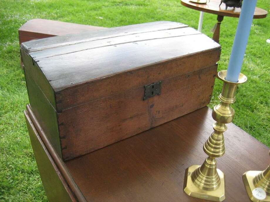 Contributed photo: Wooden chests and brass candlesticks are among the many treasures to be found Saturday at the 40th Madison Historical Society's Antiques Fair.