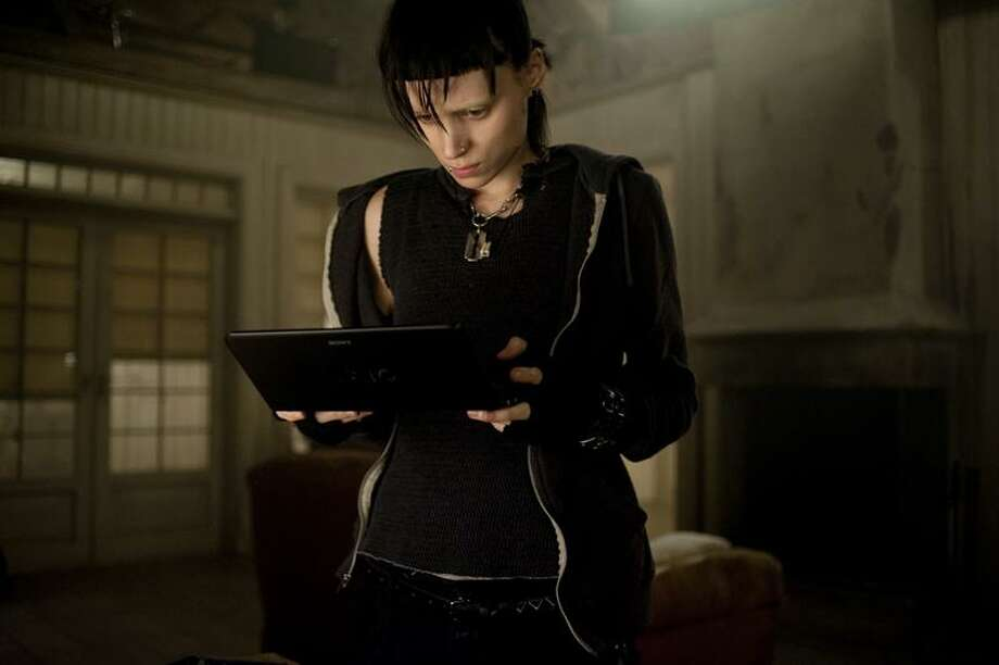 "Associated Press photo: Rooney Mara as ""Tattoo's"" damaged Lisbeth Salander is the breakout star of the year. Photo: AP / © 2011 Columbia TriStar Marketing Group, Inc. All Rights Reserved."