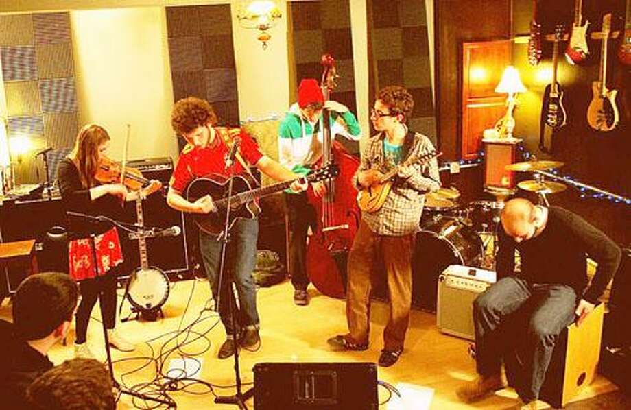 """Photo from Mammal is a Mountain on <a href=""""http://Facebook.com"""">Facebook.com</a> Mammal is a Mountain members Dan Lynch, Jameson Dunham and Robert Wojcikiewicz will perform with Aaron Welcher and Billy Lynch Friday at 6 p.m. at La Vie Boheme Bistro on Madison Street in Oneida."""
