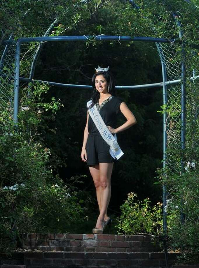 Hamden's Morgan Amarone was crowned Miss Connecticut Saturday. Brad Horrigan/Register