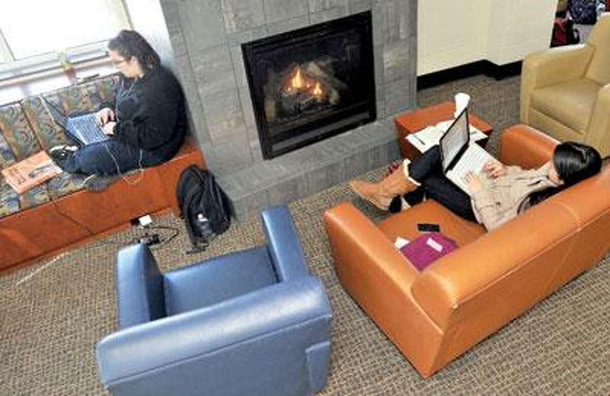 Scene from Bartels Hall lobby at the University of New Haven. (Brad Horrigan/Register)
