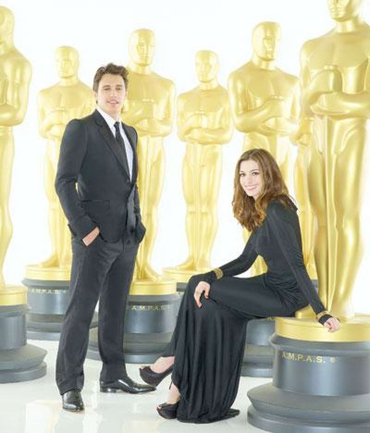 Oscar co-hosts James Franco, who spends some time in New Haven these days, and Anne Hathaway, who, if she could stand up to Meryl Streep (