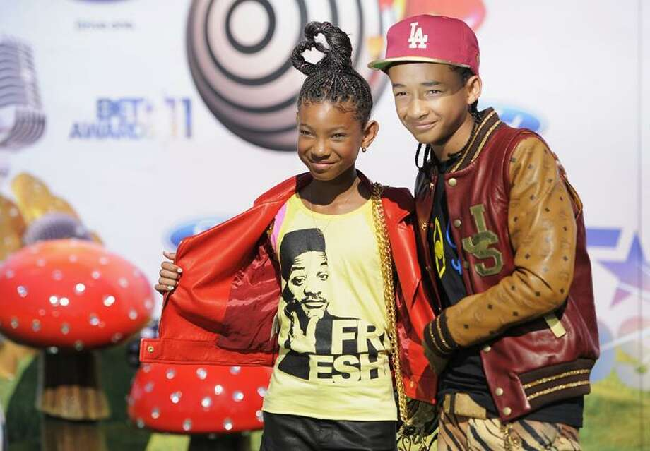 Willow Smith, left, and Jaden Smith (children of Will Smith) at the BET Awards.