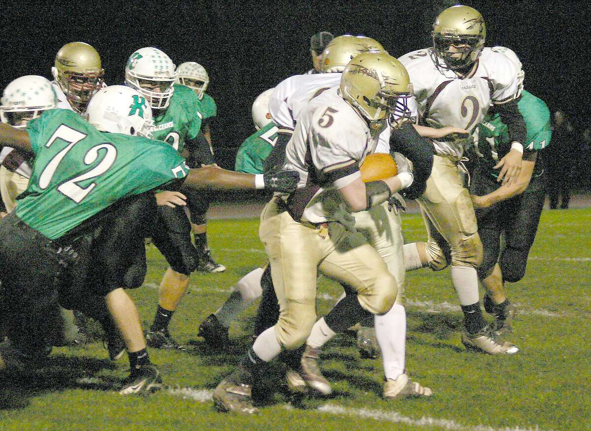 Submitted Photo by JON RATHBUN Canastota's Zack Zupan makes a run in a Class C playoff game against Herkimer Friday, October 22, 2011 in Herkimer.