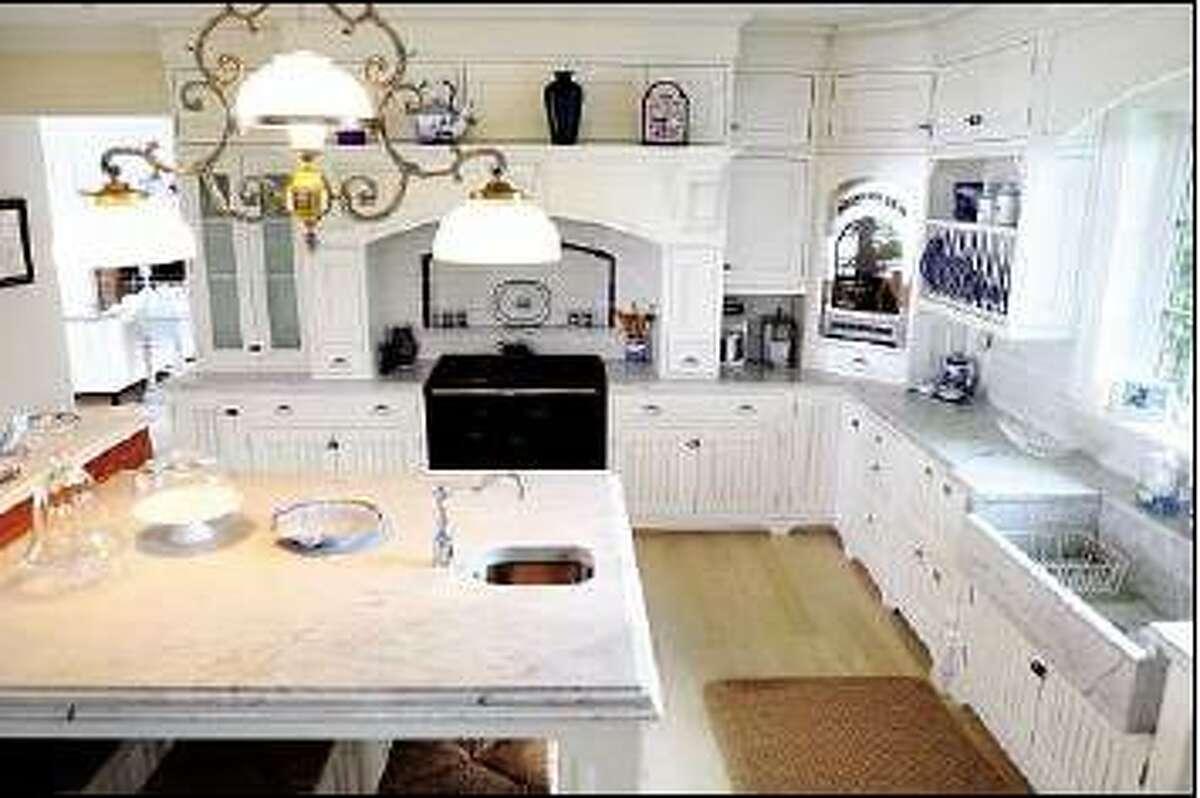 Kitchen of Hepburn home. Arnold Gold/Register