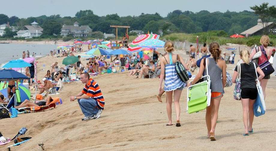 Hammonasset Beach State Park teems with visitors on a recent sunny day. Peter Casolino/Register