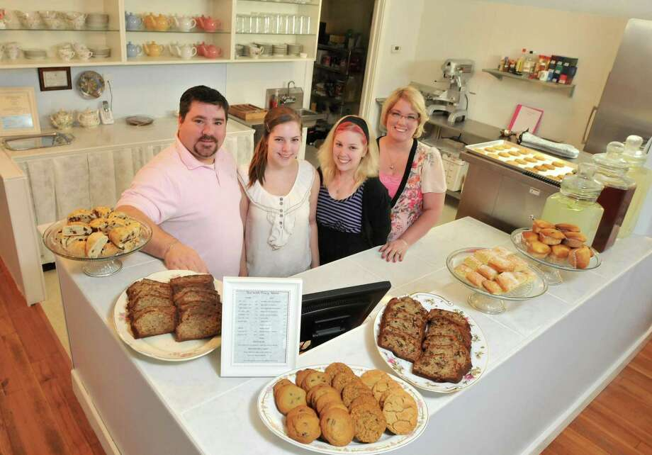 Joel, Victoria, Annalee and Tracy Tenpenny are bringing Tea with Tracy, a tearoom to downtown Seymour. (Photo by Brad Horrigan/New Haven Register)