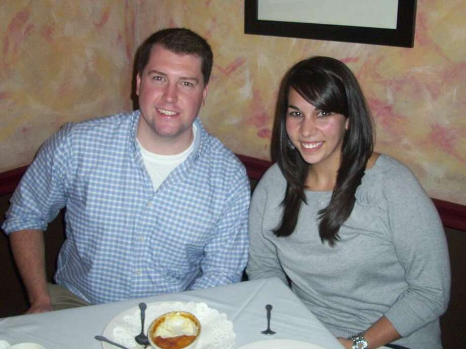 Lauren Albert of North Haven and Dan Gollan of Farmington met at Christopher Martin's on State Street in New Haven.