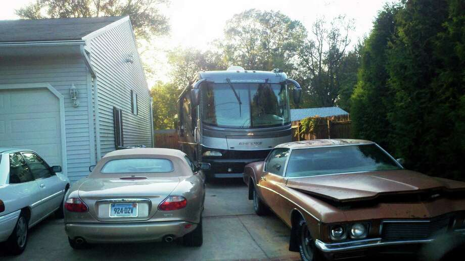 The RV that Milford police say the suspect claimed was his own.  Photo by Brian McCready