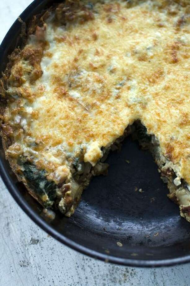 Matthew Mead/Associated Press photo: Chard and Sun-Dried Tomato Frittata Photo: AP / FR170582 AP