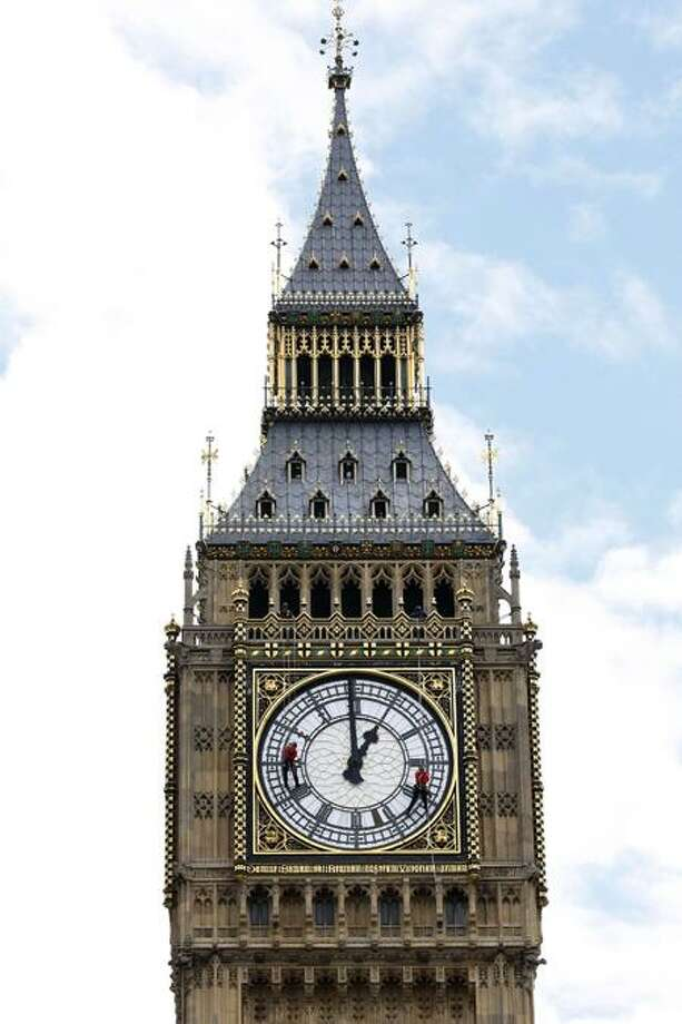 Big Ben in London, one of the world's most recognizable landmarks, is slightly off center. Associated Press Photo: ASSOCIATED PRESS / AP