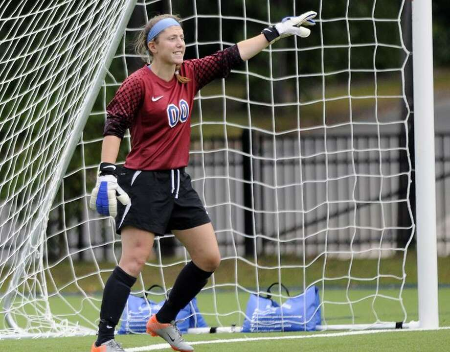 Photo courtesy of Albertus Magnus Albertus goalkeeper Christina Dineson