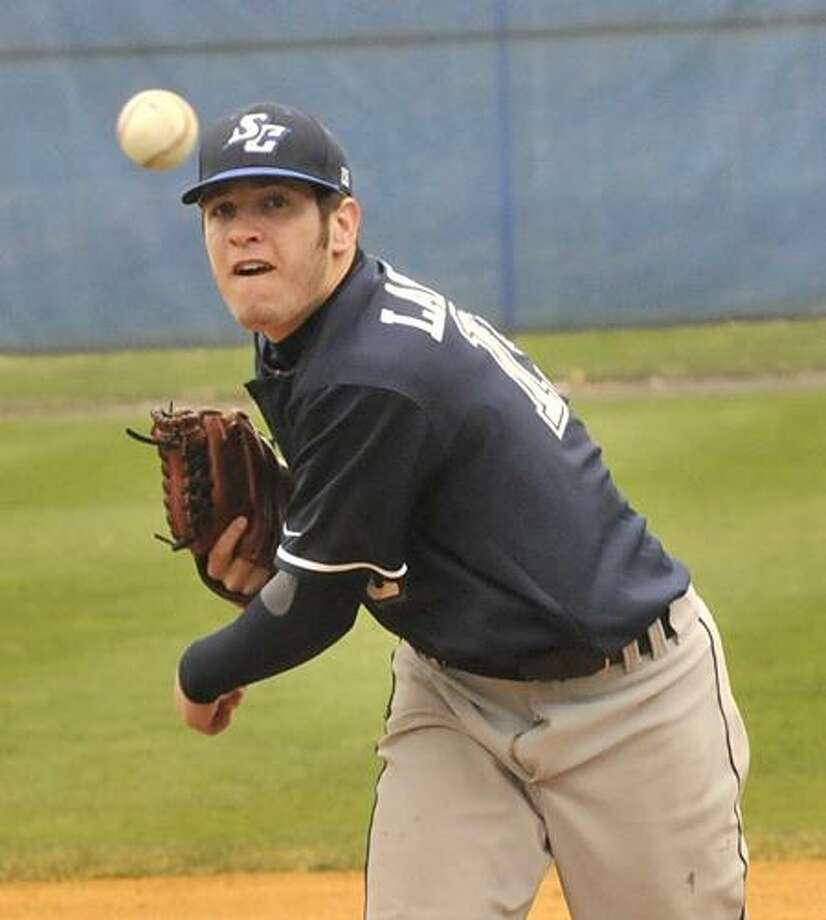 SCSU's Steve Landell threw six shutout innings against New Haven on Sunday. (Melanie Stengel/Register)