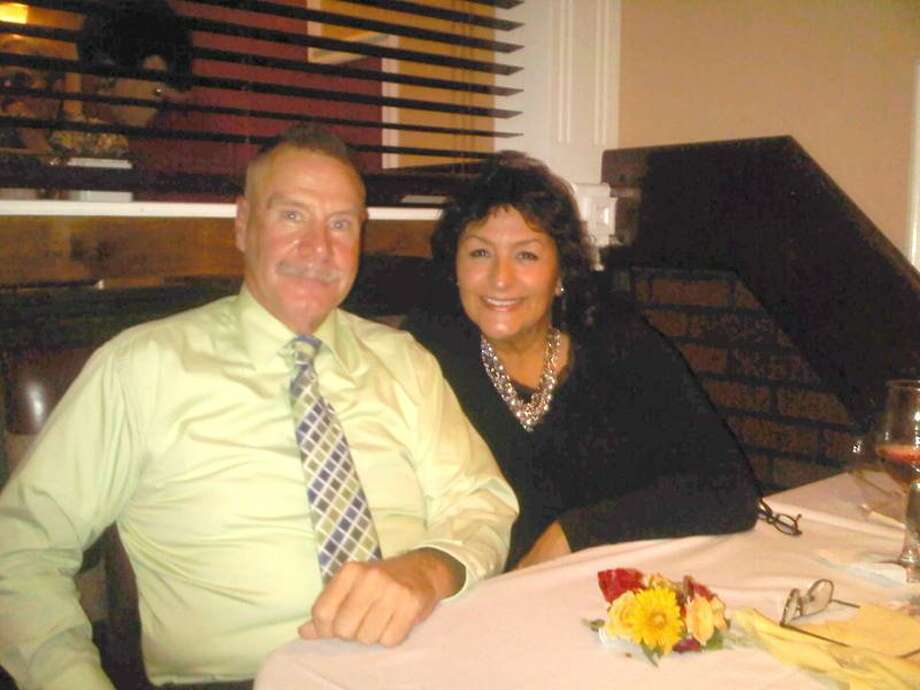Contributed photo: Bill Lamb of Killingworth and Rose Pericas of Hamden met over dinner at Brazi's.