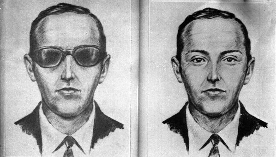 An artist's sketch of skyjacker D.B. Cooper was drawn from witness' recollections. Associated Press Photo: AP / FEDERAL BUREAU OF INVESTIGATION