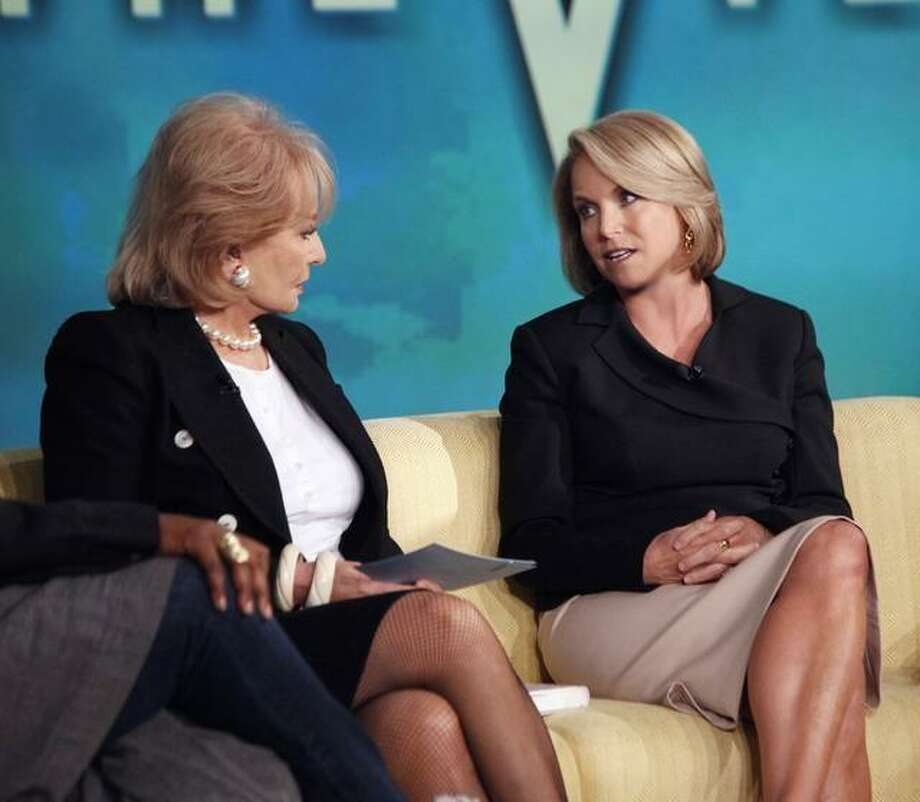 """Katie Couric on """"The View"""" with Barbara Walters. Photo: ABC / ©2011 American Broadcasting Companies, Inc. All rights reserved."""