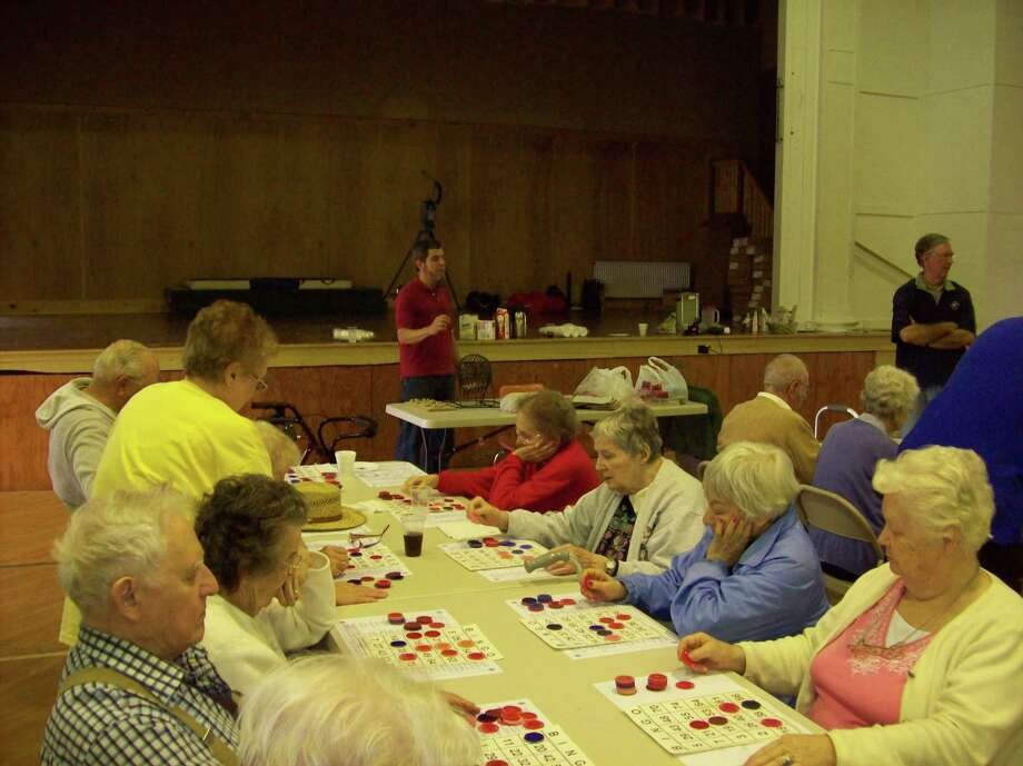 Photo Special to the Dispatch by MIKE JAQUAYS)Some 40 residents of Noyes Manor in Sherrill and the Towers apartments and Hazel Carpenter Home in Oneida came out for the Oneida-Sherrill Lions Club's annual senior citizen picnic Sunday to enjoy an afternoon of picnic foods and a bingo game called by event organizer Lion Bob Visalli.
