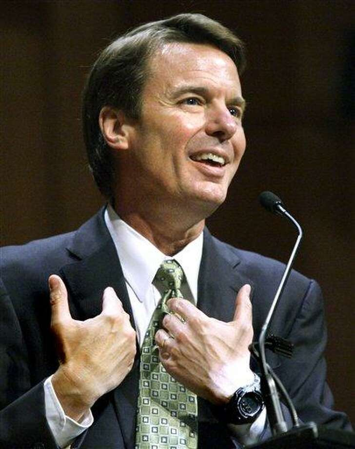 FILE -- In this March 10, 2009 file photo, former presidential candidate John Edwards sepaks at Brown University in Providence, R.I. A federal grand jury has indicted Edwards (AP Photo/Elise Amendola, File) Photo: AP / AP
