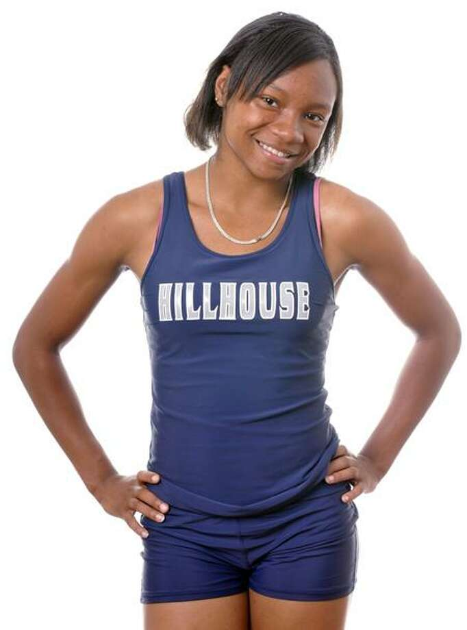 Precious Holmes of the Hillhouse track team is the Register Girls Athlete of the Week. (Melanie Stengel/Register)