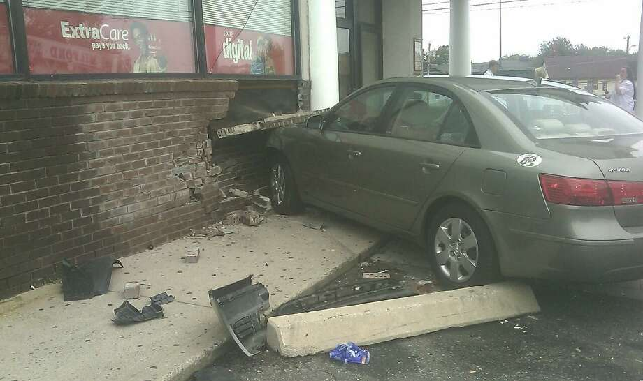 The CVS store in Milford that was struck by a car Thursday. (Milford police photo)
