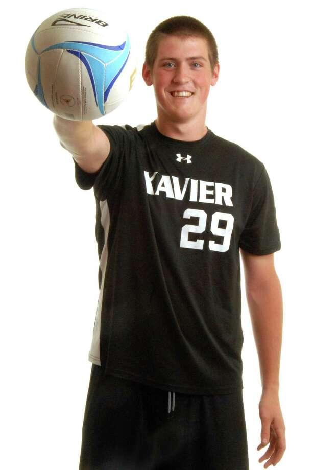 All-Area Boys' Volleyball MVP Ray Satagaj of Xavier. (VM Williams/Register)