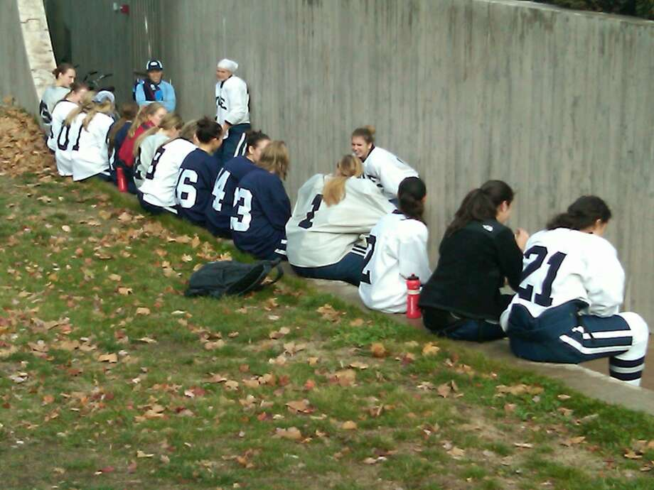 A gas leak today cut short the Yale Women's Hockey Team practice Photo by William Kaempffer