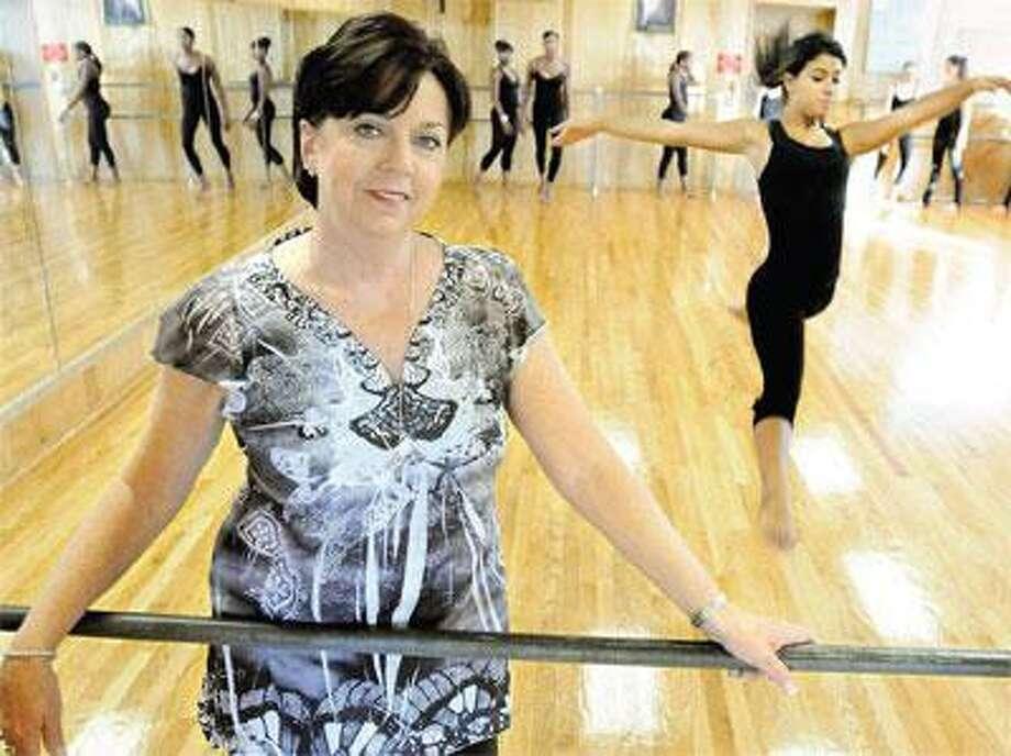Gloria Jean Cuming, at her North Haven dance studio, is celebrating the school's 50th anniversary. (Melanie Stengel/Register)