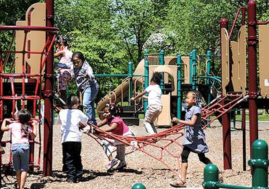 Like any good park, Edgewood has plenty of places to play. (Melanie Stengel/Register)