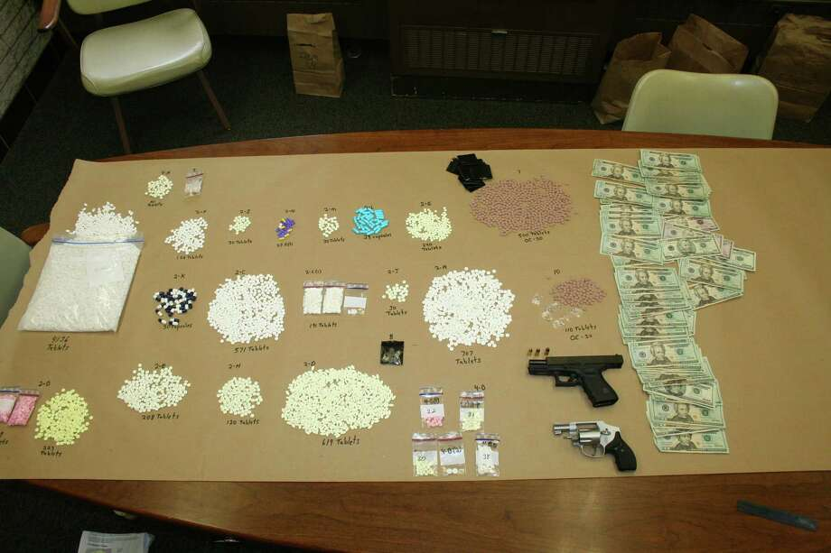 Items seized by police.