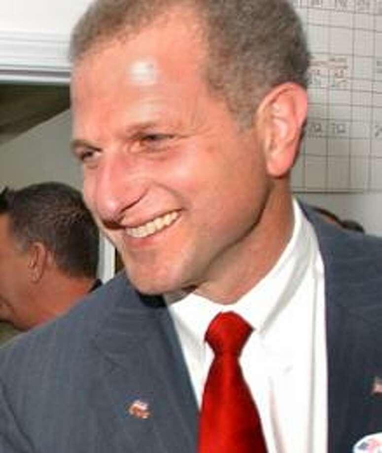 Shelton Mayor Mark Lauretti on his re-election Tuesday night. (Register File photo)