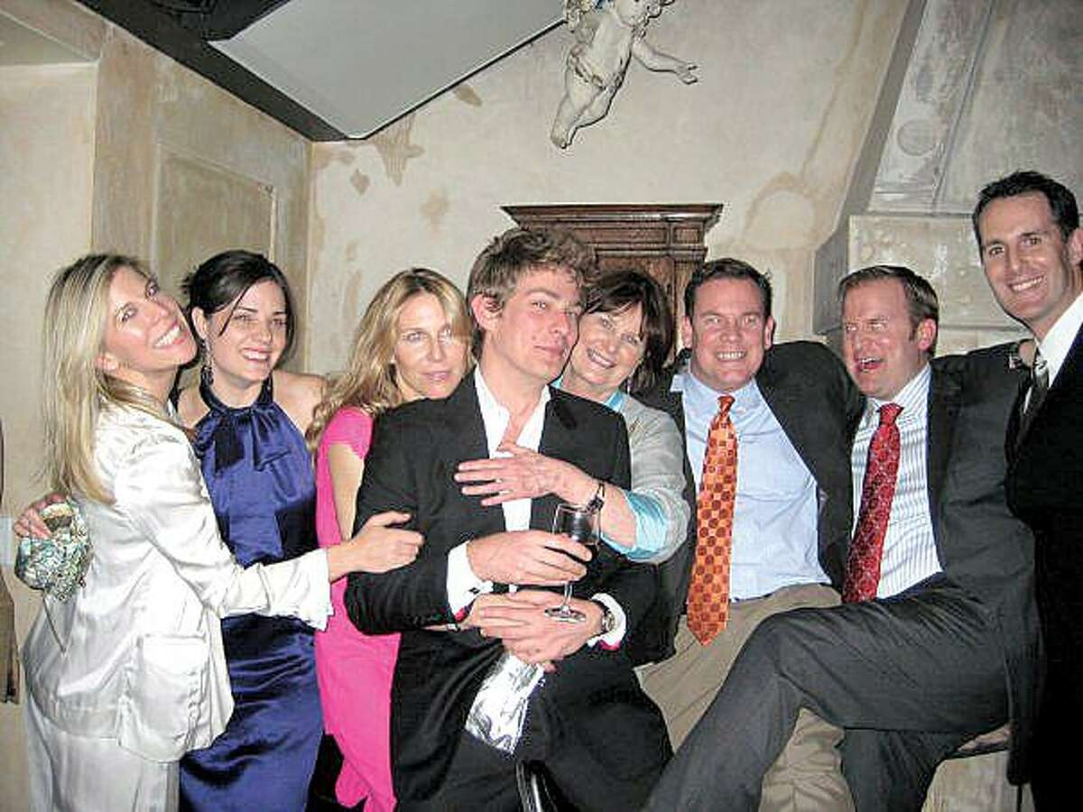 Ed McManus' sixth annual soiree to benefit the Hole in the Wall Gang Camp starts at 5 tonight in the Wicked Wolf in downtown New Haven. Last year's crowd included Kelly Stinnett, left, Carrie McManus, Jacqueline Cohen, Sam Stahl, Maryrose McManus, Frank McManus, Ed McManus and Jonathan Stinnett.