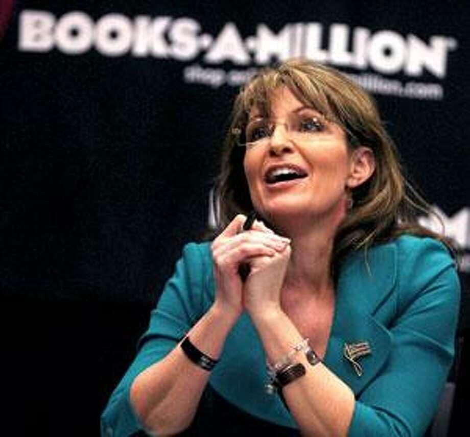 "Sarah Palin, shown on her book tour for ""Going Rogue."" (Associated Press)"