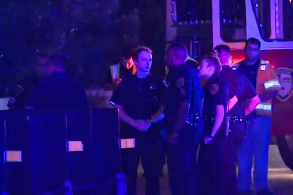 Officers with the Houston Police Department are investigating a crash early Friday that involved an apparently drunk driver and left a police officer injured. (Metro Video)